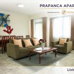 Prapanca Apartment Spacious Living Room with Couch